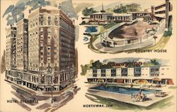 Three Finest in New York State: Hotel Syracuse, Country House, Northway Inn Postcard