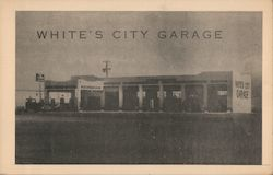 White's City Garage Postcard