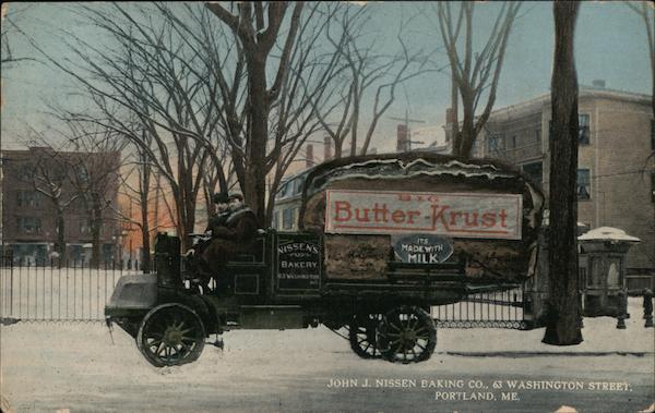 Butter-Krust Bread Truck - John J. Nissen Baking Company Portland Maine