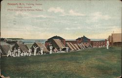 Training Station Camp Grounds Postcard