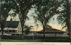 The Inn and Dancing Pavilion Ye Golden Spur Park Postcard