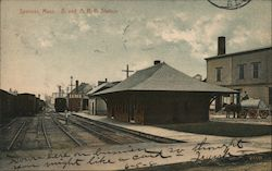 B. and A. R.R. Station Postcard