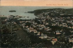 Camden, Maine From Mt. Battle Postcard