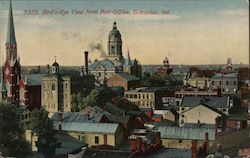 Bird's-Eye View from Post Office Postcard