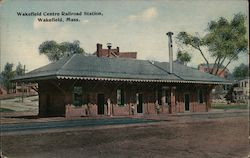 Wakefield Centre Railroad Station Postcard