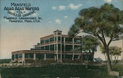 Mansfield Agar Agar Wafers The Drugless Laxative Mansfield Laboratories Inc. Postcard