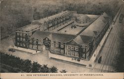 New Veterinary Building, University of Pennsylvania Postcard