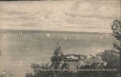 View of Pecorino Bay From Shelter Island Heights, N.Y. Postcard