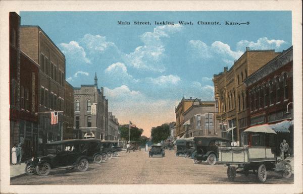 Main Street, Looking West Chanute Kansas
