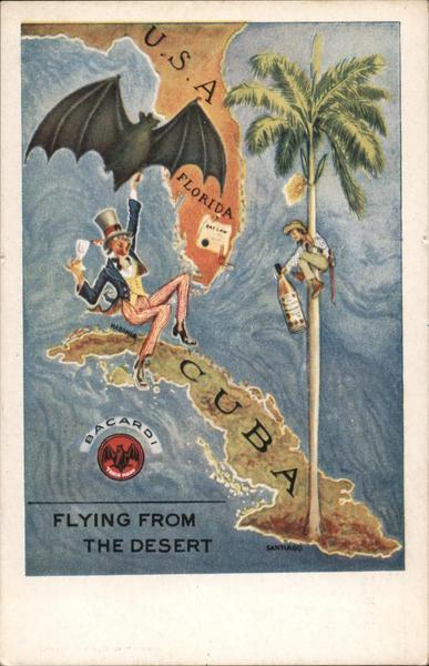 Bacardi Rum Bat - Flying From the Desert Advertising