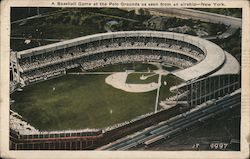 A Baseball Game at the Polo Grounds as Seen from an Airship Postcard