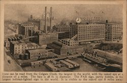 The Colgate Clock, Factory Postcard