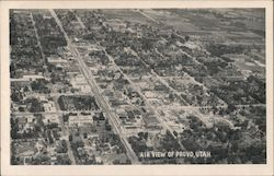 Air View of Provo Utah Postcard