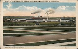 Plant of American Steel & Wire Co. Showing By-Product Plant in Background