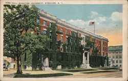 Sims Hall at Syracuse University Postcard