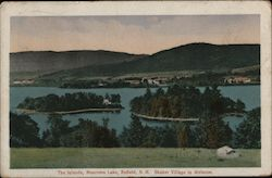 The Islands, Mascoma Lake, Shaker Village In Distance Postcard