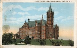 Crouse College, Syracuse University Postcard