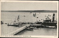 Yacht Races on Wilmington River Postcard