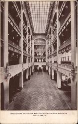 Inner Court of the New Store of the Sterling & Welch Co. Postcard