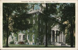University Hall, Lawrence College Postcard