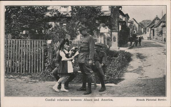 Cordial Relations Between Alsace and America Military