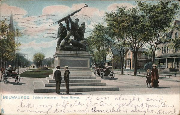 Soldiers' Monument, Grand Avenue Milwaukee Wisconsin