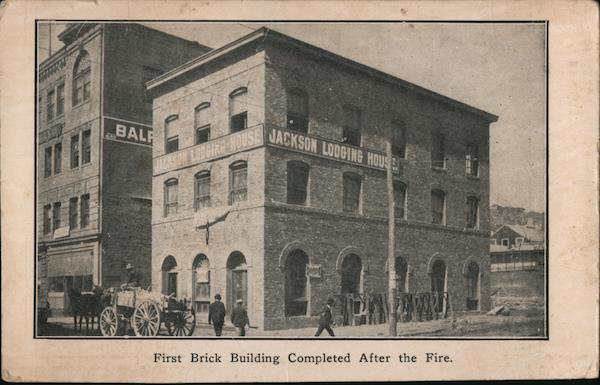 Jackson Lodging House - First Brick Building Completed After the Fire San Francisco California