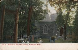 Memorial Hall and Library Postcard