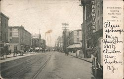 Broad Street, Looking North from State Postcard