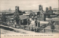 Salt Industry, The Pump House, Pumping Brine from the Rock Postcard