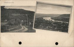 Hill, Back of Owego Postcard
