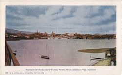 Portion of the Water Front, Williamette River Postcard
