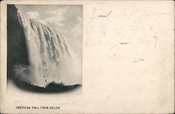 American Fall From Below Postcard