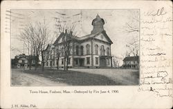 Town House - Destroyed by Fire June 4, 1900 Postcard