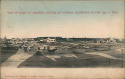 View of Ruins of Business Section of Hyannis, Destroyed By Fire Dec. 3, 1904
