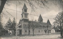 Town Hall on the New Bedford and Onset Line Postcard