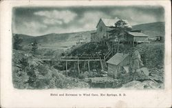 Hotel and Entrance to Wind Cave Postcard