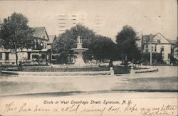 Circle of West Onondaga Street Postcard