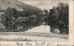 Delaware River at Walton Postcard
