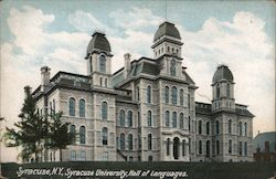Syracuse University Hall of Languages Postcard