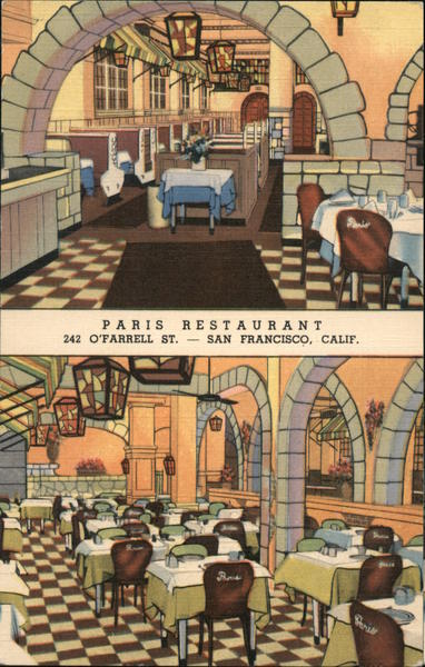 Paris Restaurant San Francisco California