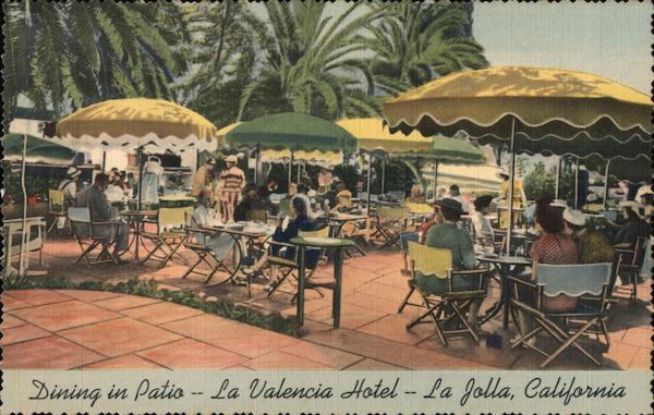 Dining In Patio - La Valencia Hotel La Jolla California