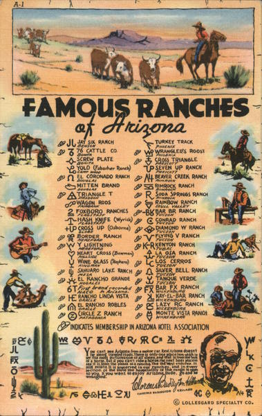 Famous Ranches of Arizona Cowboy Western