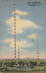 New Transmitter, Radio Station WKY Postcard