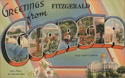 Greetins from Fitzgerald, Georgia Postcard