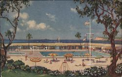 Swimming Pool and Cabanas at the Beach and Tennis Club, Hotel del Coronado