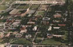 Aerial View of University of Oklahoma Postcard