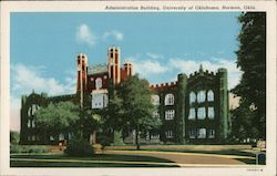 Administration Building University of Oklahoma Postcard