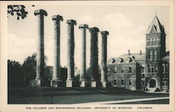 The Columns and Engineering Building, University of Missouri Postcard