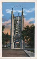 Memorial Tower, Missouri College of Agriculture Postcard